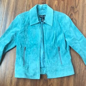 Style & Co Jackets & Coats - Real Suede Leather Spring Jacket